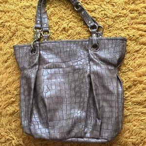 Steve Madden Croc Pattern Tote Bag
